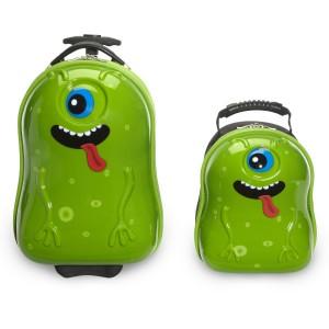 green-alien-kids-luggage-set