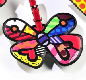 Romero-Britto-Butterfly-Luggage-Tag