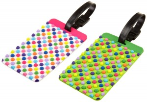fun-luggage-tags-polka-dots