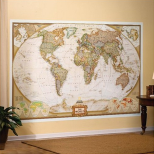 Travel home to an elegant world map mural travel gift list world map mural nat geo amazon link gumiabroncs Gallery