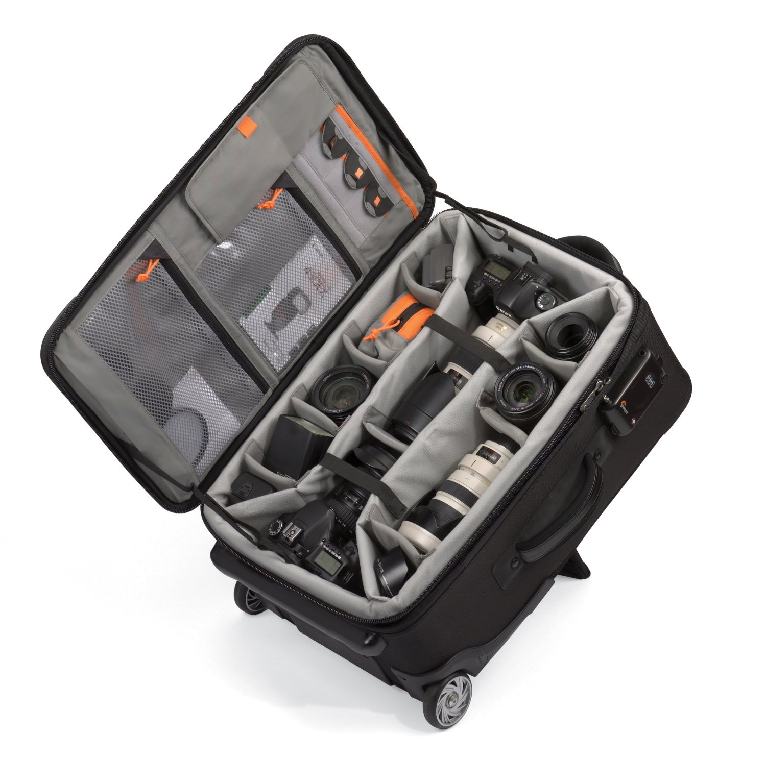 Travel easy with an airport friendly rolling camera bag for Fotografie case