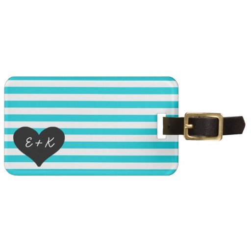 personalized-luggage-tags-turquoise-stripes