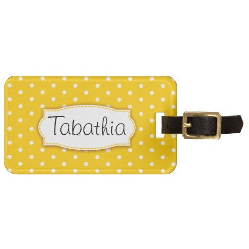 personalized-luggage-tags-yellow-polka-dots