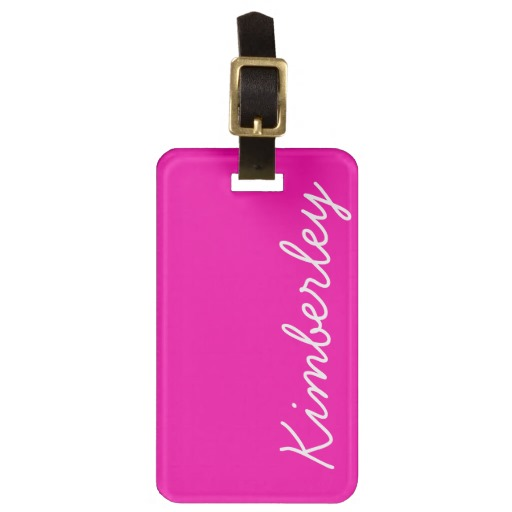 personalized-luggage-tags-pink-script