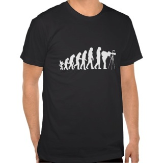 best-travel-gifts-for-photographers-photographer-evolution-t-shirt