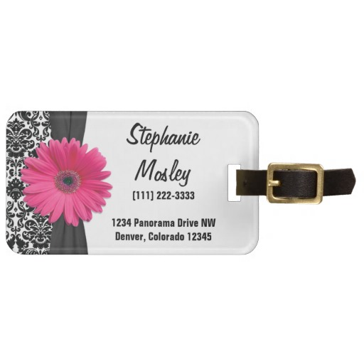personalized-luggage-tags-gerbera-daisy
