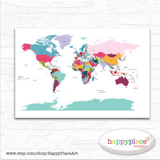 Give a push pin travel map travel gift list push pin travel map printable gumiabroncs Choice Image
