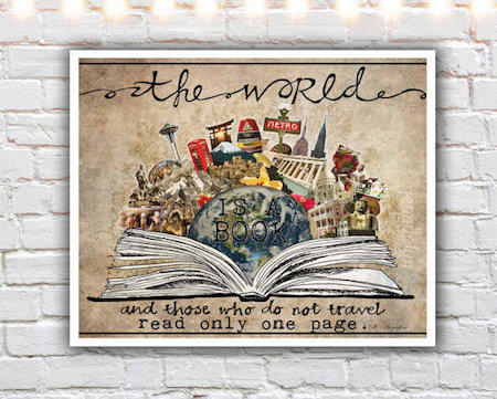 inspirational-wall-art-for-travelers-world-is-a-book